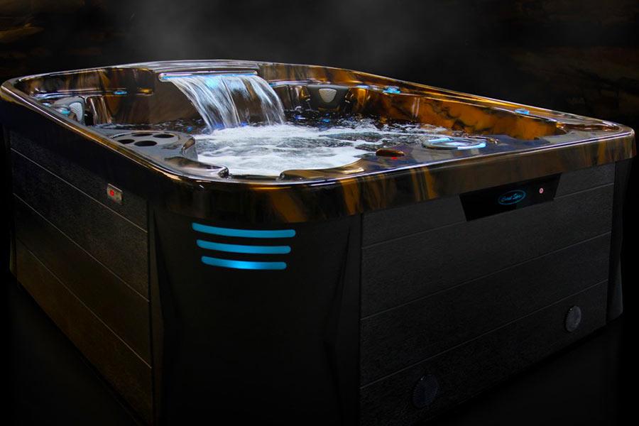 Spa traditionnel avec fontaine d'eau